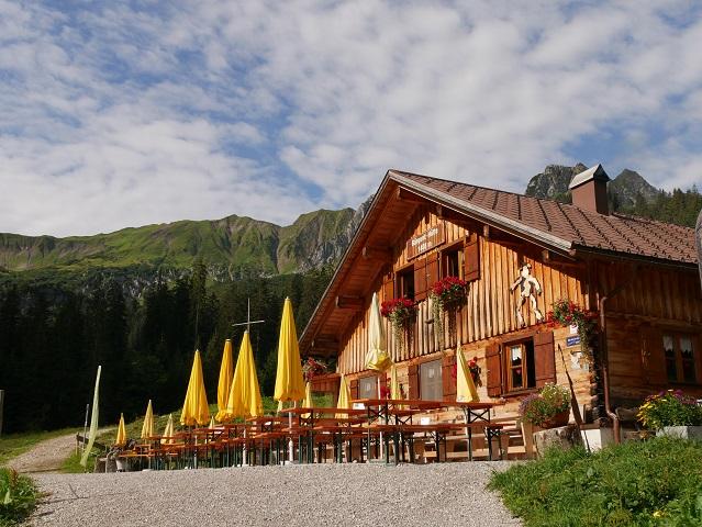 Die Bärgunt-Hütte im Kleinwalsertal