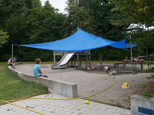 Spielplatz im Freibad Stadtweiher Leutkirch
