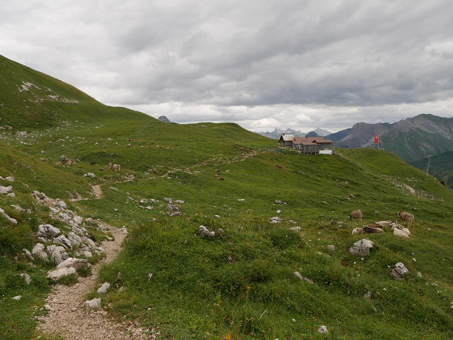 Weg zur Widdersteinhütte im Kleinwalsertal