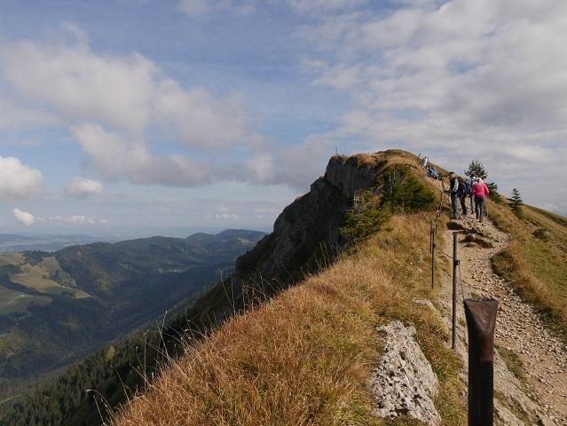 Auf dem Panoramaweg zum Hochgratgipfel