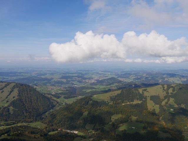Panoramablick vom Hochgrat Richtung Oberstaufen