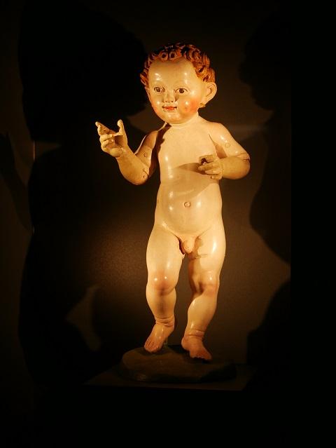 Das Millionenbüble - schreitendes Christkind von Michel Erhart