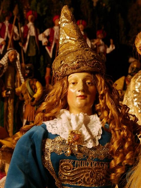 Die Königin von Saba in der baocken Großkrippe in Mindelheim
