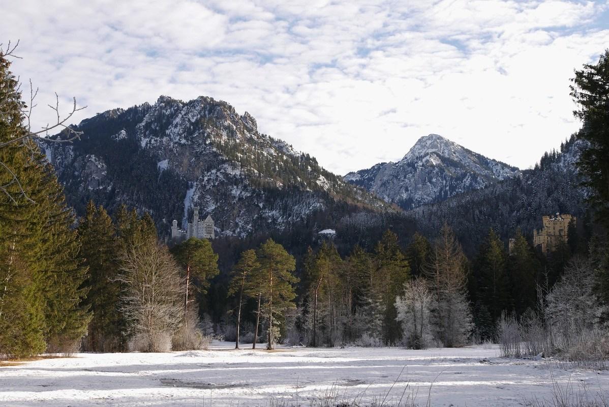 Schönstes Foto - die Schlösser Neuschwanstein und Hohenschwangau im Winter
