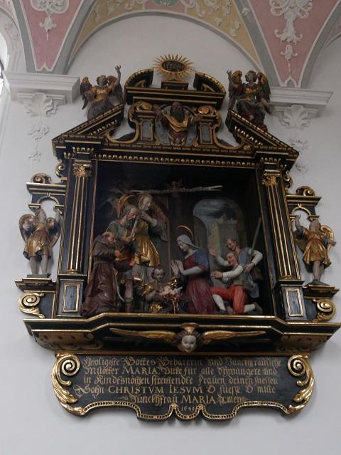 frühbarocke Krippenszene in der Liebfrauenkapelle Mindelheim