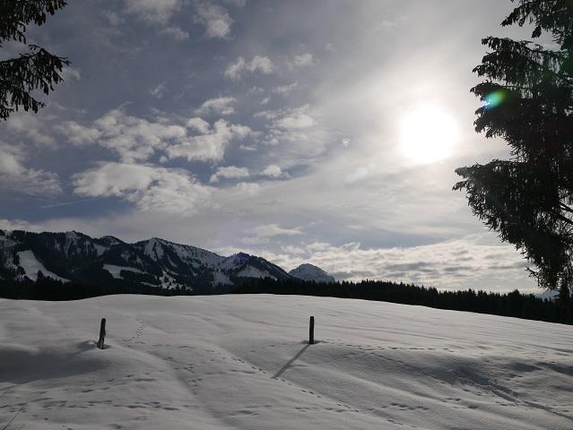 Die Sonnenköpfe bei Sonthofen im Winter