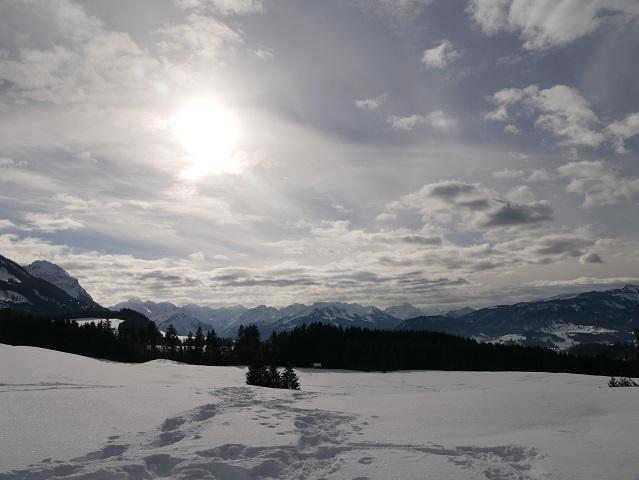winterliches Bergpanorama bei Sonthofen