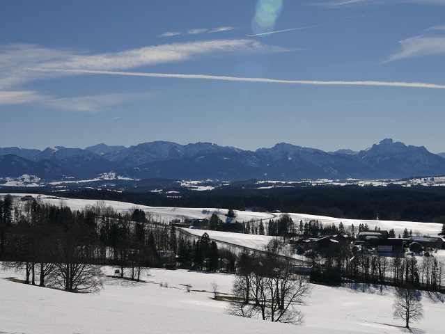 Panoramablick vom Römerweg am Auerberg