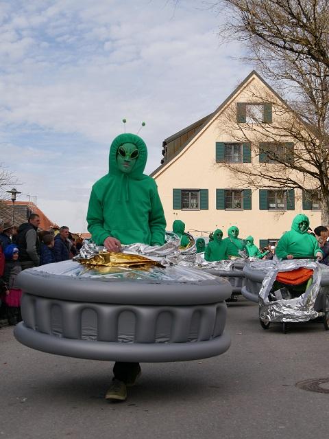 Faschingsumzug Obergünzburg 2019 - Außerirdischer Besucher