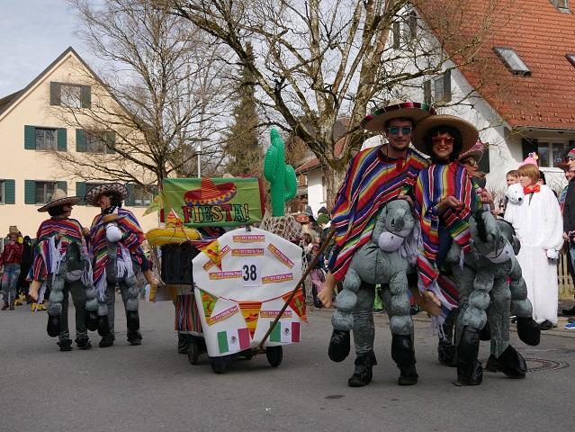 Faschingsumzug Obergünzburg 2019 - Fiesta-Truppe
