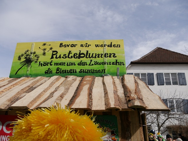 Faschingsumzug Obergünzburg 2019 - Motto der Löwenzahngruppe