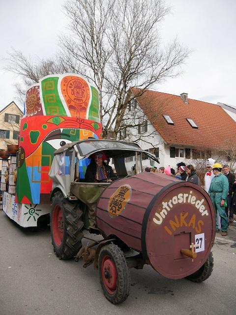 Faschingsumzug Obergünzburg 2019 - Untrasrieder Inkas - Wagen