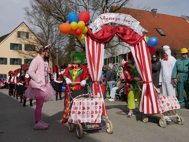 Faschingsumzug Obergünzburg 2019 - Zirkus Belissima Manege frei