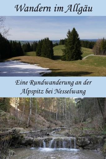 Rundwanderung an der Alpspitz bei Nesselwang im Frühling