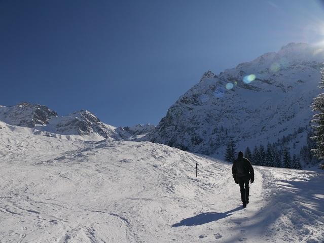 Winterwanderung im Kleinwalsertal - im hinteren Wildental