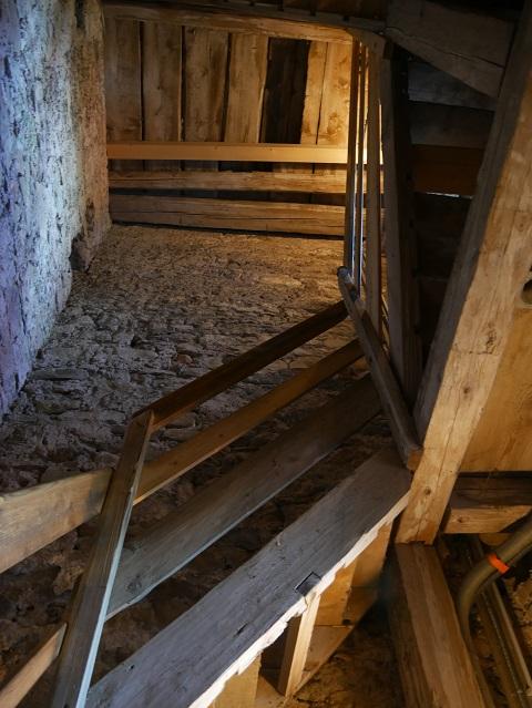 Aufstieg durch den Kirchturm zur Aussichtsplattform auf dem Auerberg