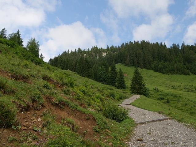Aufstieg nach der Alpe Melköde