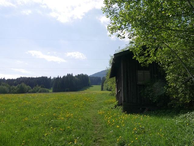 Beginn des Wanderwegs zur Buronhütte