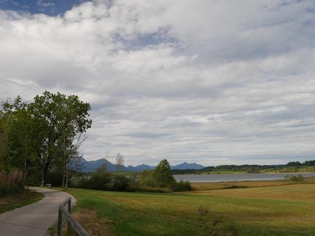 Blick auf den Bannwaldsee bei Schwangau
