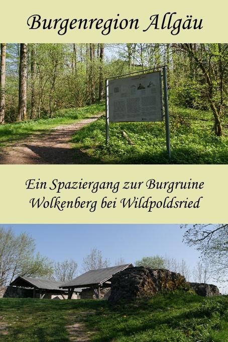 die Burgruine Wolkenberg bei Wildpoldsried im Allgäu