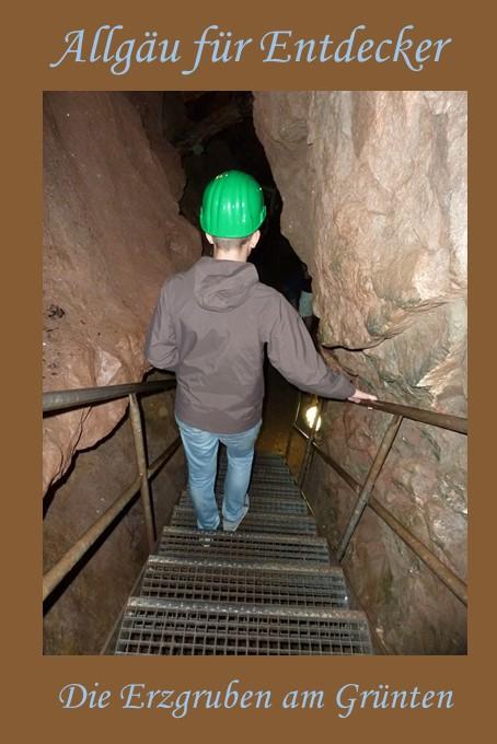 Auf Entdeckungsreise in den Erzgruben am Grünten im Allgäu