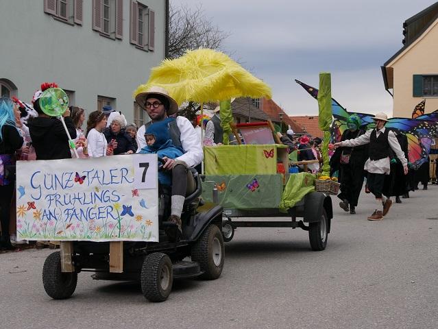 Günztaler Frühlings-An-Fänger auf dem Faschingsumzug Obergünzburg 2020
