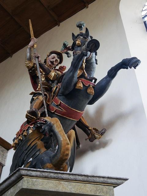 Figur des Hl. Georg in der Auerbergkirche