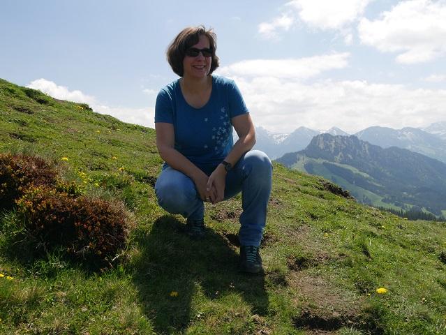 Barbara Kettl-Römer ausnahmsweise hoch im Allgäu unterwegs