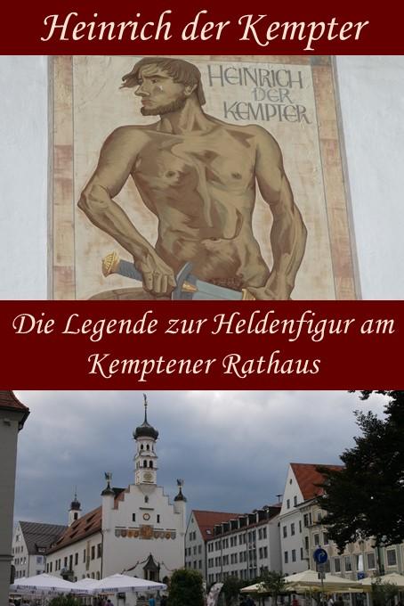 Heinrich der Kempter - die Heldenfigur am Kemptener Rathaus