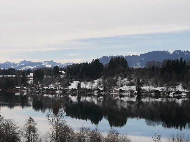 Blick über den Niedersonthofener See südwärts