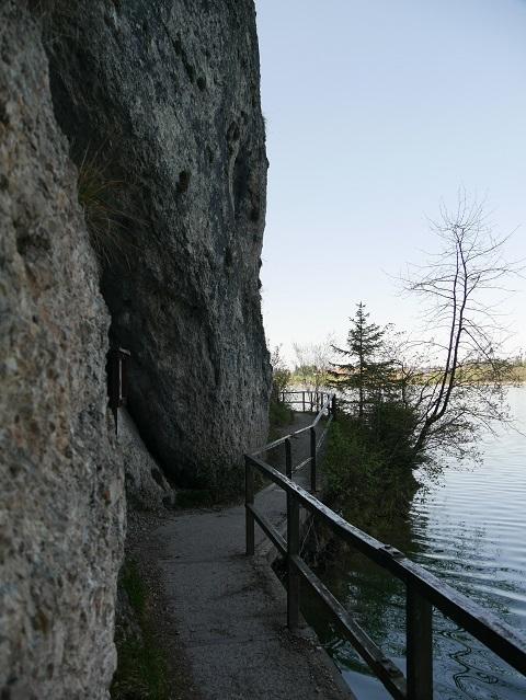 der Hugo-Ludwig-Steg am Weißensee-Südufer