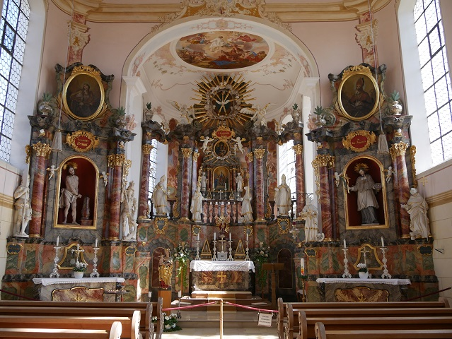 Kapelle St Rasso in Untergammenried - Innenansicht