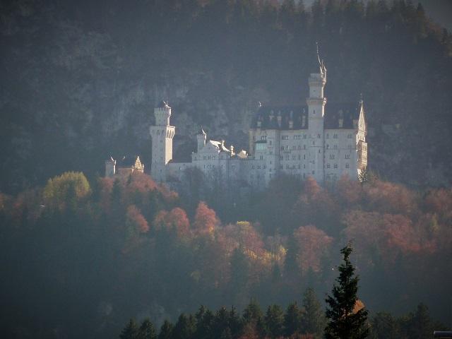 Schloss Neuschwanstein im Spätherbst