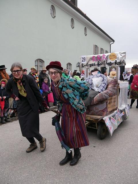 rüstige Rentner auf dem Faschingsumzug Obergünzburg 2020
