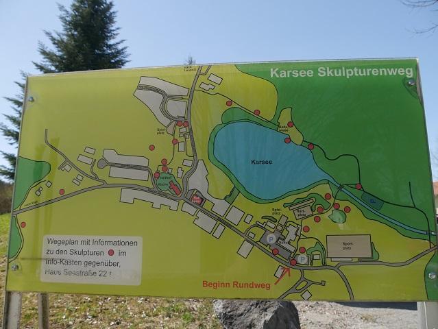 Wegeplan zum Skulpturenweg Karsee