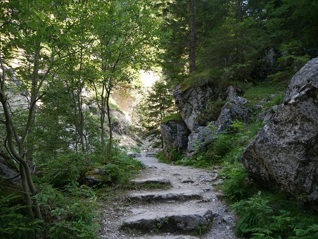 Steinstufenweg an der Pöllat