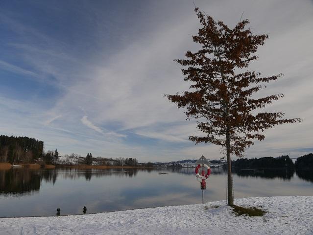 Strandbad am Niedersonthofener See im Winter