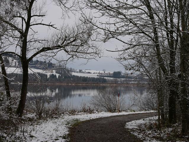 Wanderweg am Südufer des Grüntensees