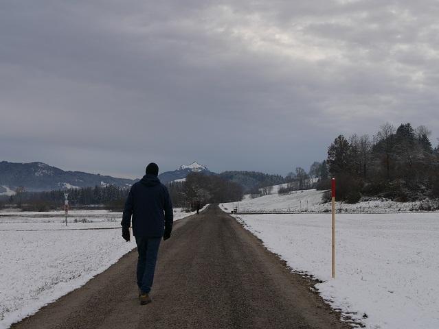 Wanderweg mit Grüntenblick