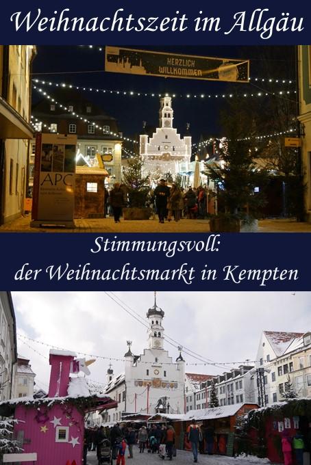 Stimmungsvoll: der Weihnachtsmarkt Kempten im Allgäu
