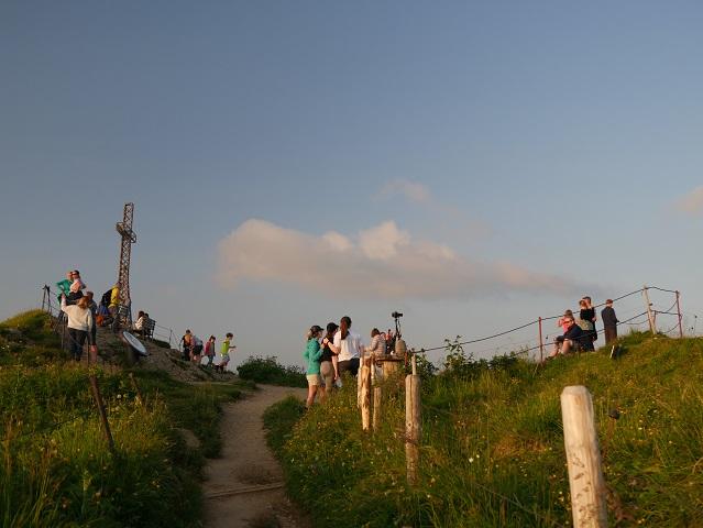 Abends auf dem Hochgrat-Gipfel