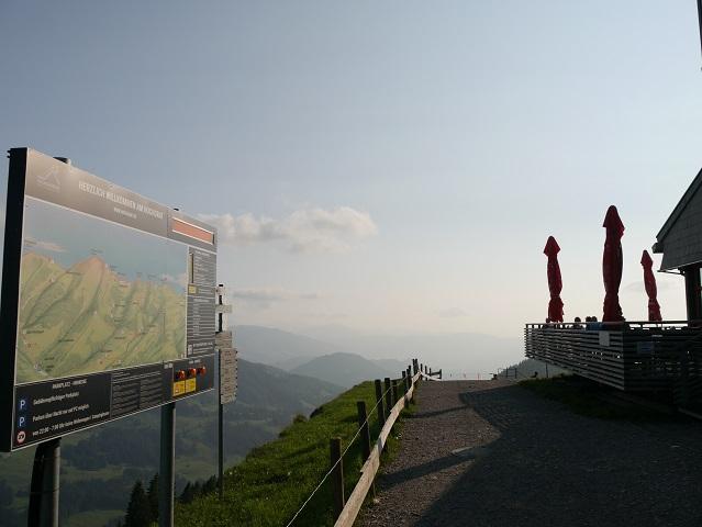 an der Bergstation der Hochgratbahn