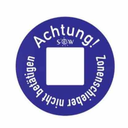 Hinweisschild -Wasser nach DIN 4067 - Kennscheibe für Absperrventile / Wasserverteilung