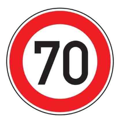 Zulässige Höchstgeschwindigkeit x km - Verkehrszeichen nach StVO