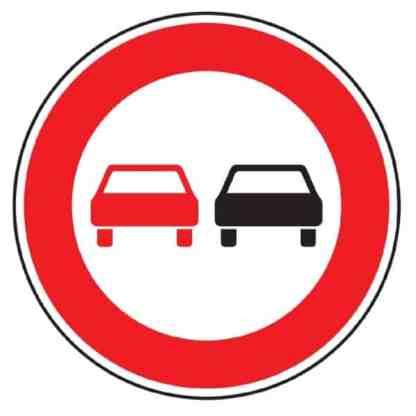 Überholverbot für Kraftfahrzeuge aller Art - Verkehrszeichen nach StVO