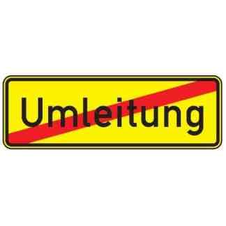 Ende der Umleitung – Verkehrszeichen nach StVO