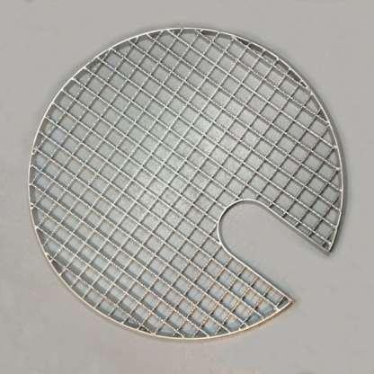 Abdeckgitter aus Edelstahl mit 12 cm Ausschnitt
