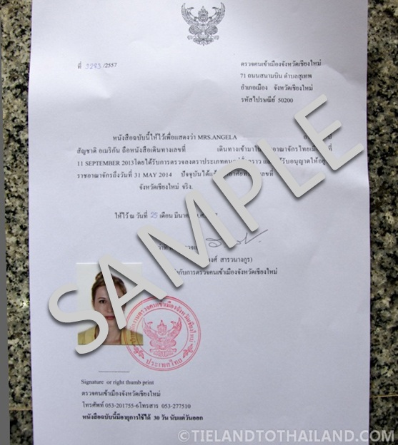 How to Get a Thai Residence Certificate - Tieland to Thailand
