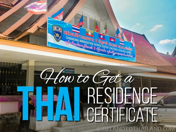 How To Get A Thai Residence Certificate Tieland To Thailand