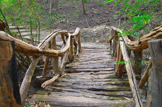 Bridge at the Mae Sa Waterfalls Bridge